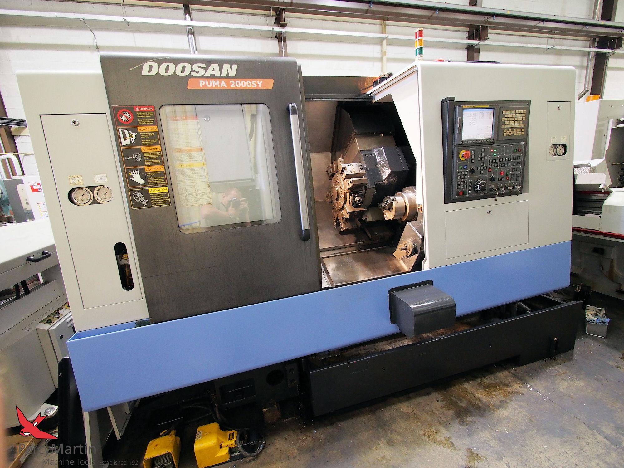 used doosan puma 2000sy 2007 cnc lathes with milling for sale rh fr percymartin co uk 2 Door CNC Lathe Mazak CNC Lathe